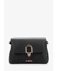 Черная кожаная сумка через плечо от Jane Shilton