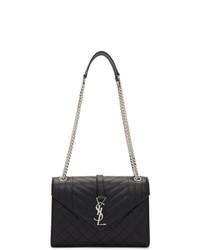 Черная кожаная сумка через плечо от Saint Laurent