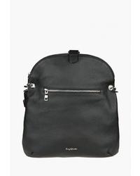 Черная кожаная сумка через плечо от Sergio Belotti