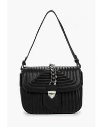 Черная кожаная сумка через плечо от Vitacci