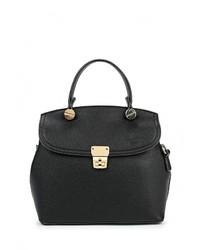 Черная кожаная сумка через плечо от Zarina