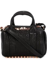 Женская черная кожаная сумочка от Alexander Wang