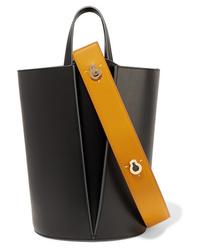 Черная кожаная сумочка от Danse Lente