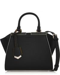 Черная кожаная сумочка от Fendi