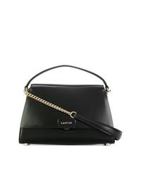 Черная кожаная сумочка от Lanvin
