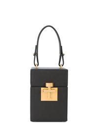 Черная кожаная сумочка от Oscar de la Renta