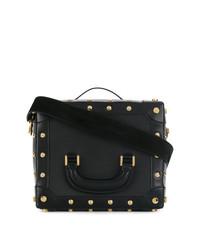 Черная кожаная сумочка от Sacai