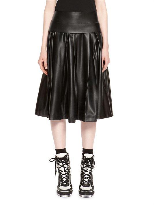 c0188c6de9a ... Черная кожаная юбка-миди со складками от DKNY