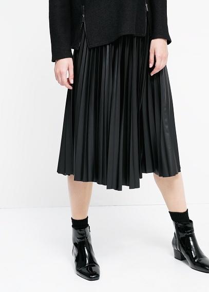 Черная юбка манго