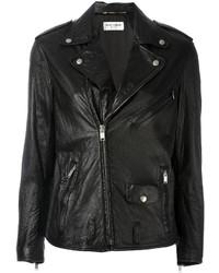 Женская черная косуха от Saint Laurent