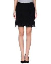 Женская черная кружевная мини-юбка от Emilio Pucci
