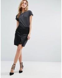 Черная кружевная мини-юбка от Noisy May