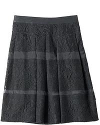 Черная кружевная пышная юбка