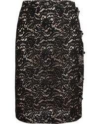 Черная кружевная юбка-карандаш