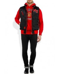 Мужская черная куртка без рукавов с принтом от Atributika & Club™