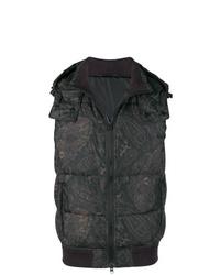 Мужская черная куртка без рукавов с принтом от Etro