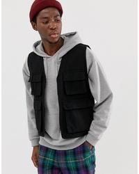 Мужская черная куртка без рукавов от ASOS DESIGN