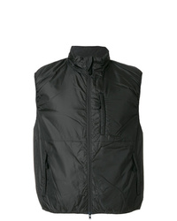 Мужская черная куртка без рукавов от Aspesi