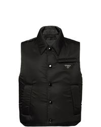 Мужская черная куртка без рукавов от Prada