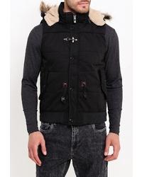 Мужская черная куртка без рукавов от Young & Rich