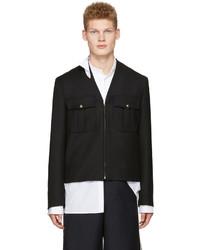 Мужская черная куртка в стиле милитари от Maison Margiela