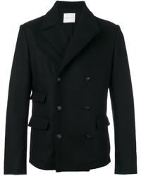 Мужская черная куртка в стиле милитари от Pierre Balmain