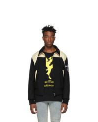 Мужская черная куртка-пуховик с вышивкой от Gucci