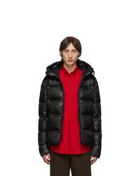 Мужская черная куртка-пуховик с леопардовым принтом от Kanuk