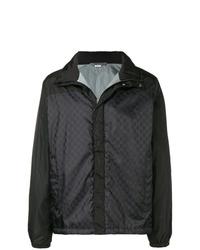 Мужская черная куртка-пуховик с принтом от Gucci