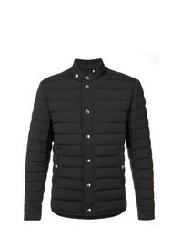 Черная куртка-пуховик с шипами