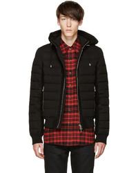 Мужская черная куртка-пуховик от Balmain
