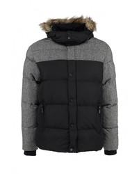 Мужская черная куртка-пуховик от Brave Soul