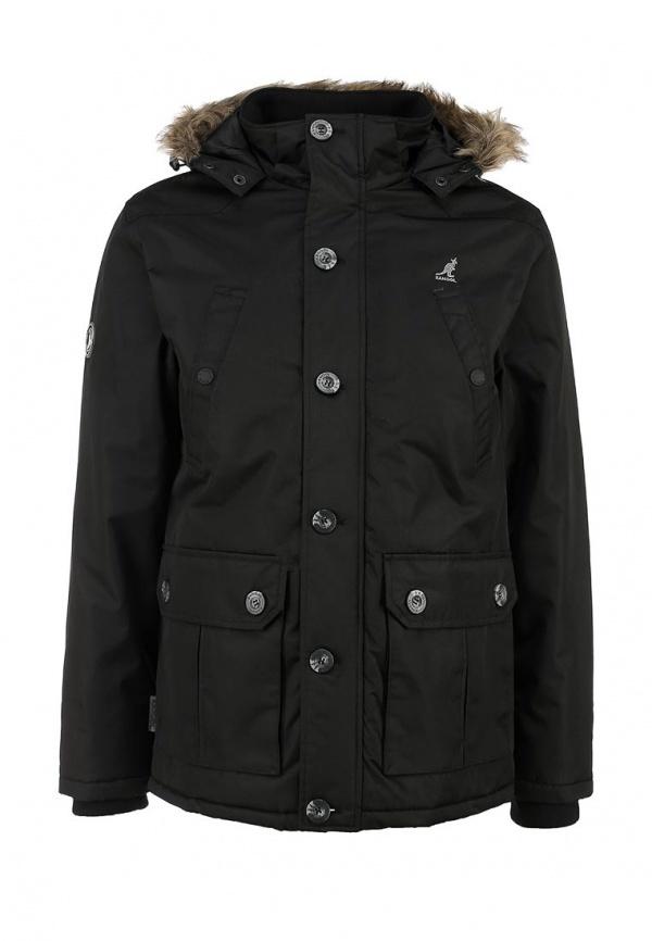53de7f9485e1 Мужская черная куртка-пуховик от Kangol   Где купить и с чем носить