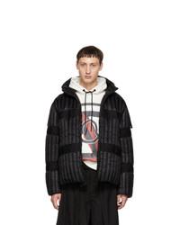 Мужская черная куртка-пуховик от Moncler Genius