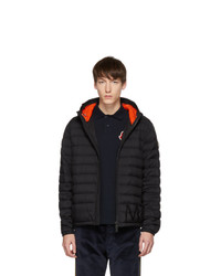 Мужская черная куртка-пуховик от Moncler