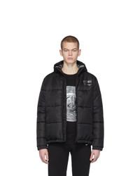 Мужская черная куртка-пуховик от Moschino