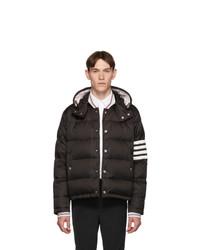 Мужская черная куртка-пуховик от Thom Browne