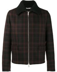 Черная куртка-рубашка в клетку