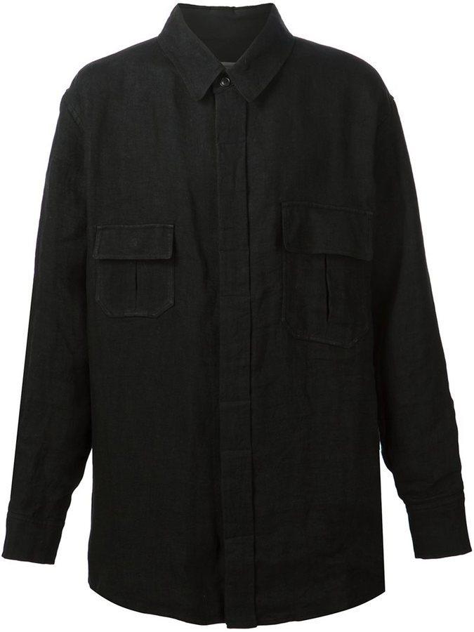 8f24fccaa929485 Мужская черная куртка-рубашка, 85 280 руб. | farfetch.com | Лукастик