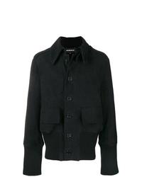 Мужская черная куртка-рубашка от Ann Demeulemeester