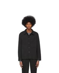 Мужская черная куртка-рубашка от Barena
