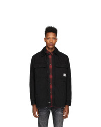 Мужская черная куртка-рубашка от Diesel