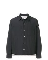 Мужская черная куртка-рубашка от Moncler Gamme Bleu