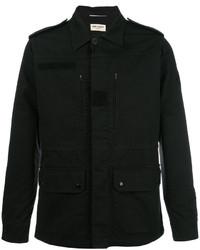 Мужская черная куртка-рубашка от Saint Laurent