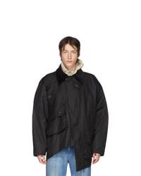 Черная куртка с воротником и на пуговицах от Y/Project