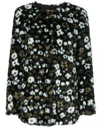 Женская черная куртка с цветочным принтом от MICHAEL Michael Kors