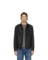 Черная куртка харрингтон от Belstaff