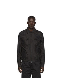 Черная куртка харрингтон от Fendi