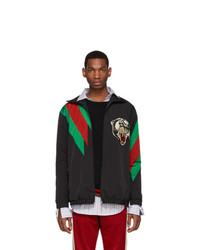 Черная куртка харрингтон от Gucci