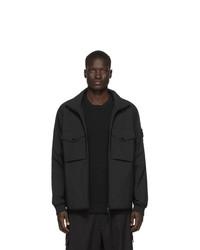 Черная куртка харрингтон от Stone Island